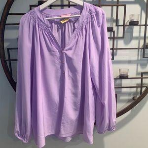Lilly Pulitzer lavender purple Elsa silk blouse XL